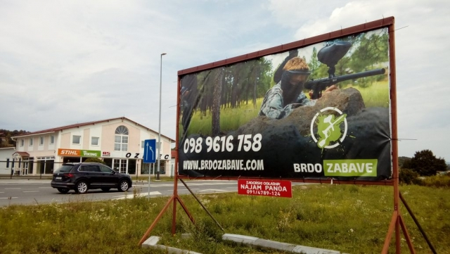 Zabok drugi pano - Brdo Zabave paintball