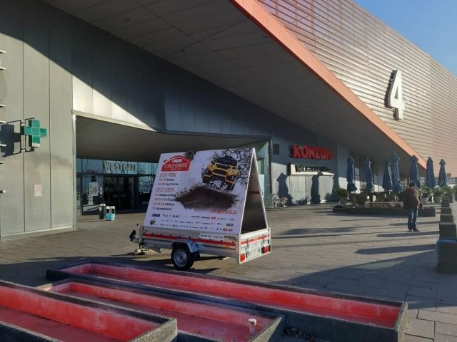 Mobilni billboard/jumbo pano Zagorje - 8. Rally Kumrovec 2019 - West Gate