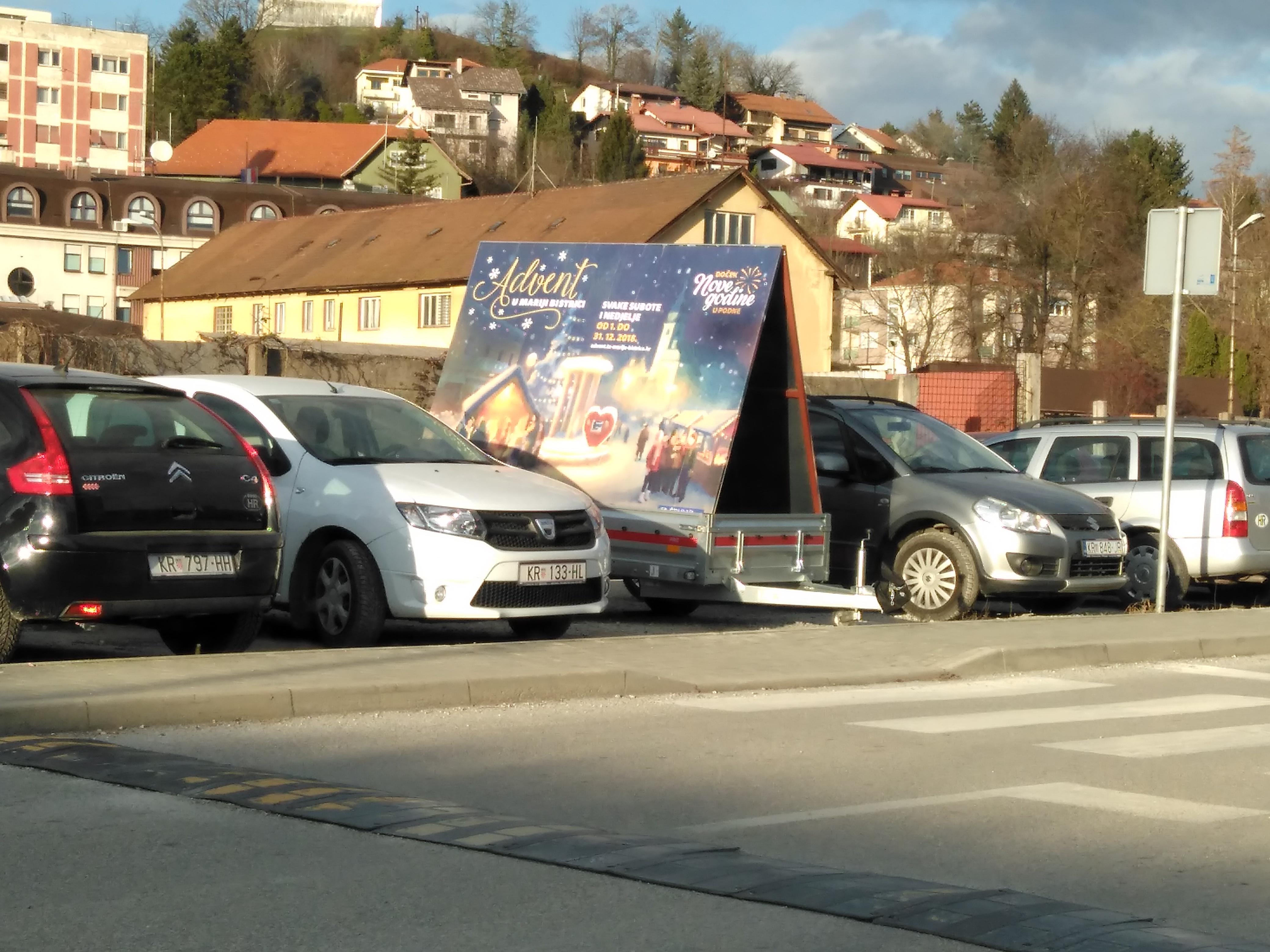 Mobilni billboard/jumbo pano Zagorje - Advent Marija Bistrica