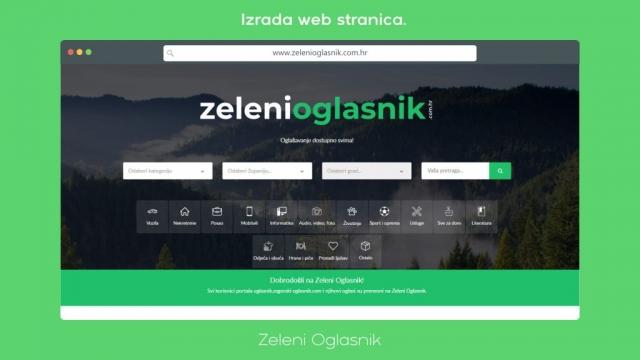 Zeleni Oglasnik - izrada web stranica   Zagorski oglasnik
